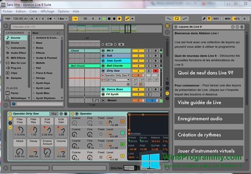 Скриншот программы Ableton Live для Windows 8